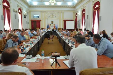"""USR Bihor acuză partidele din Consiliul Judeţean că au împărţit banii pentru primării după """"algoritm"""", nu după nevoile comunităţilor"""