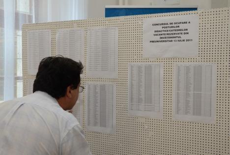 Note mai mari pentru 70 de profesori după soluţionarea contestaţiilor la titularizare