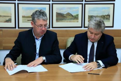 S-a semnat contractul de asociere pentru Parcul Ştiinţific şi Tehnologic din Oradea