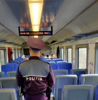 Controale în trenuri de călători şi staţii CFR, în Bihor. Câţi călători au fost prinşi fără mască de protecţie (FOTO)