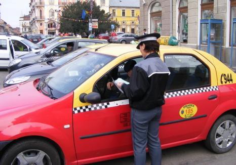 Poliţiştii orădeni, cu ochii pe taximetrişti: un şofer a fost amendat cu 5.000 de lei