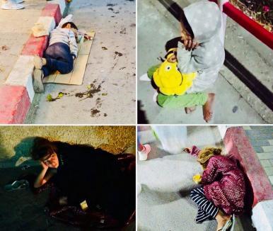 Atenție, nu călcați copiii! Duşi la cerşit în Costineşti, mai mulţi minori dorm pe străzi (VIDEO)