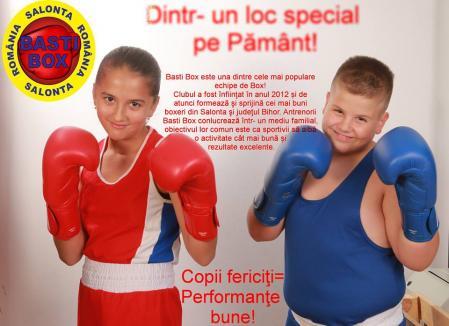 Educaţie prin sport: Copiii de la o grădiniţă din Salonta învaţă să trăiască sănătos de la sportivii Basti Box