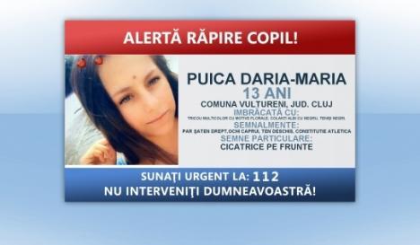 Poliţia, în alertă! O fetiţă de 13 ani din Cluj a fost răpită de un bărbat de 27 de ani