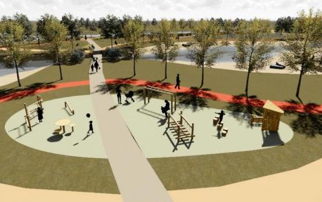 Nouă zonă de sport cu lac, în Oradea: Lucrările la coridorul verde Grigorescu vor începe în vară