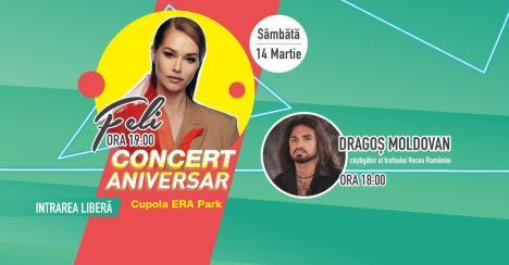 De ziua de naștere, ERA Park Oradea te invită la super chef!Printre atracții, show-uri spectaculoase cu lumini LED, petrecere Disco și concert Feli