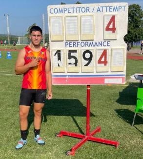 Trei medalii şi trei recorduri personale pentru Cristian Mehes la Naţionalele U20 de atletism