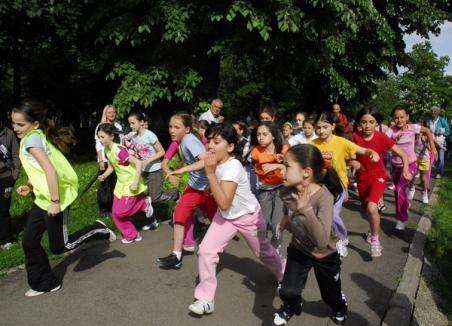 Elevii bihoreni s-au întrecut la fugă (FOTO)