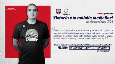 CSM Oradea s-a alăturat campaniei de strângere de fonduri pentru spitalele din oraş