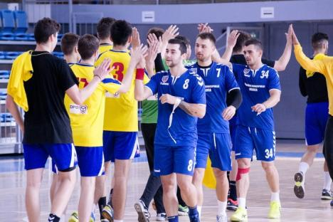 Victorie lejeră pentru handbaliştii de la CSM Oradea, în disputa cu CNE Sighişoara (FOTO)