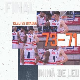 După un final dramatic, CSM CSU Oradea a pierdut cu 71-73 jocul de la Cluj