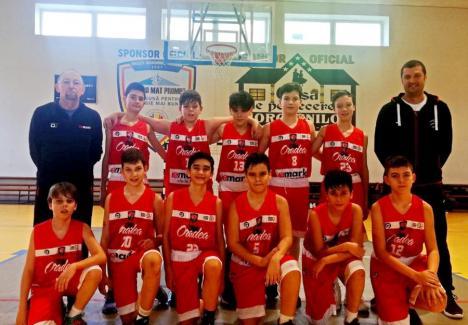 Micii baschetbaliştii de la CSM CSU Oradea s-au clasat pe locul 2 la primul turneu juvenil din acest sezon