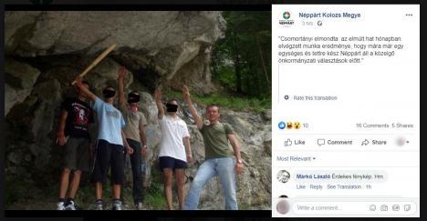 Fotografie controversată cu președintele PPMT: Orădeanul Csomortányi István s-ar fi pozat, alături de alți tineri, făcând salutul nazist. Vezi imaginea!