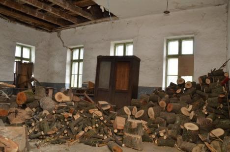 Şcoală pericol public! Zeci de elevi învaţă într-o clădire ce stă să se prăbuşească peste ei (FOTO)