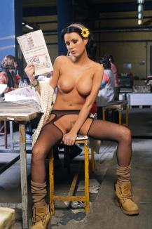 Daniela Crudu s-a dezbrăcat în tipografie
