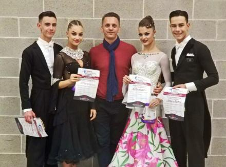 Tinerii dansatori de la Clubul Exclusive Oradea, pe primul loc în Clasamentul European la dansuri latino (FOTO)