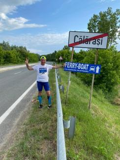 1.400 de kilometri, în alergare. Dănuţ Cernat a ajuns la Oradea, într-un maraton pentru copiii poliţiştilor care au murit infectaţi cu Covid-19 (FOTO / VIDEO)