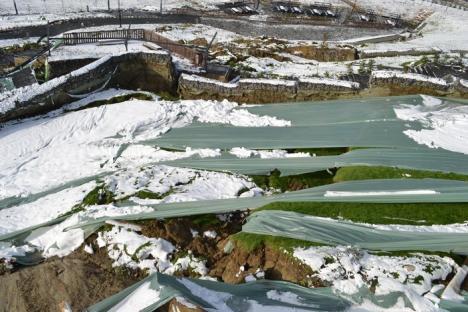 Investiţie de 1,9 milioane euro, distrusă: Dealul Ciuperca s-a prăbușit la prima ninsoare (FOTO/VIDEO)