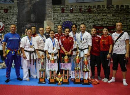 Trei orădeni, pe podium la Campionatul European de Karate Kyokushin de la Baku