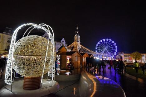 S-a deschis Târgul de Crăciun în Oradea. Vezi cum arată! (FOTO / VIDEO)
