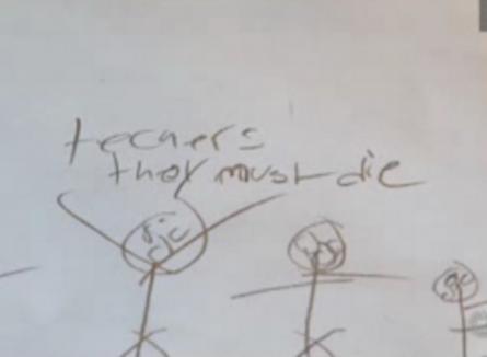 Un băiat de 11 ani, arestat din cauza unui desen cu împuşcături