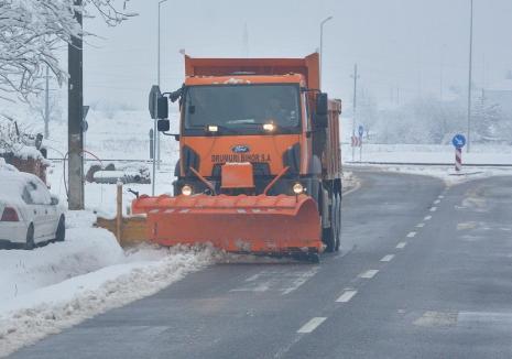 CJ Bihor: Niciun drum județean nu a rămas blocat de ninsoare