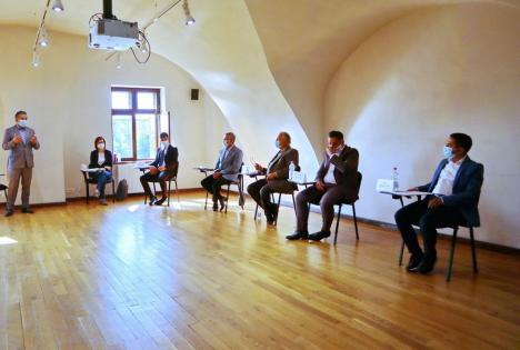 Candidații la Primăria Oradea au dezbătut relația cu mediul de afaceri în absența favoritului Florin Birta (FOTO / VIDEO)