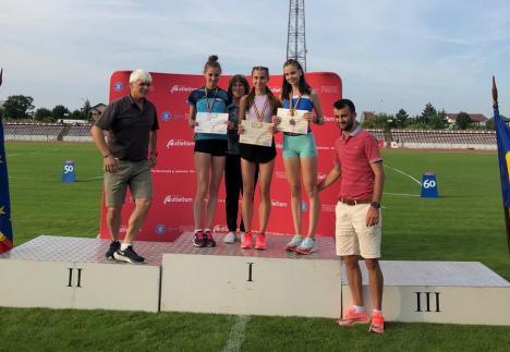 Orădeanca Diana Verdeş, pe podium la Naţionalele U18 de atletism