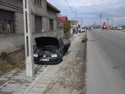 Vinovat pentru accidentul din Sudrigiu a fost un şofer de 39 de ani din Pietroasa, care a tăiat calea unui Volvo