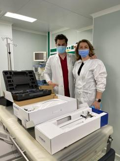 Spitalul Judeţean din Oradea, dotat cu ureteroscoape de 22.000 de euro de o asociaţie locală