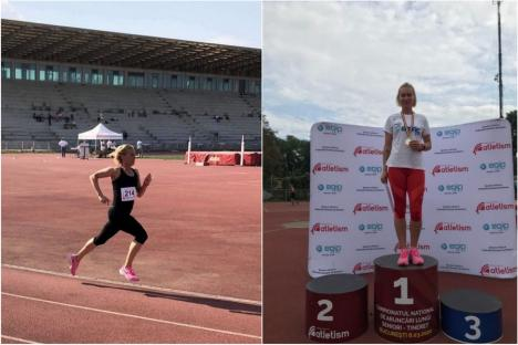 Dorina Korozsi s-a impus în probele de 1500 m şi 800 m la Naţionalele de Atletism Masters din București (FOTO)