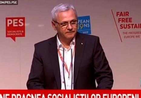 Dragnea, huiduit printre ai lui: La congresul PES, o eurodeputată socialistă i-a strigat 'Afară cu corupţii', iar Timmermans i-a dat un ultimatum (VIDEO)