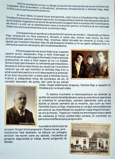 Traian Suciu, urmaşul orădenilor care au salvat o familie de evrei de la Holocaust, a primit titlul 'Drept între popoare' (FOTO)