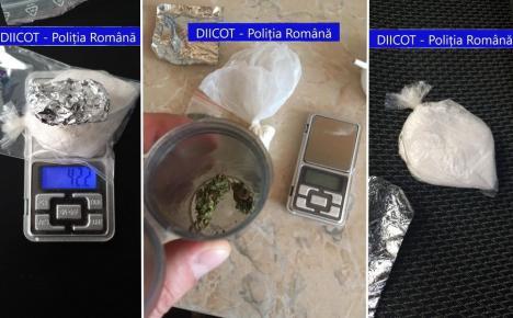 Tânăr de 25 de ani, prins în flagrant în timp ce vindea droguri de mare risc în Salonta (FOTO)