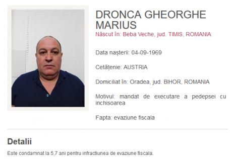 Urmărit internaţional, prins la Oradea. Afaceristul, cetăţean austriac, era căutat de doi ani pentru o fraudă de aproape 22 milioane de lei