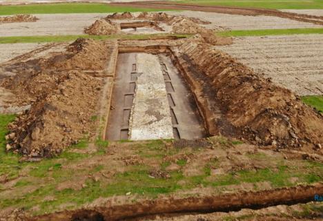 Drum roman, descoperit în Sălaj în urma săpăturilor pentru Autostrada Transilvania (VIDEO)