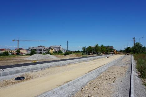Drumul colector din zona străzii Ogorului ar putea fi gata luna viitoare (FOTO)