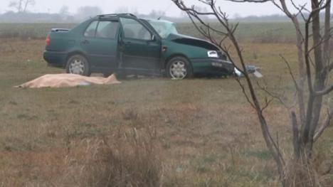 Accident teribil: Un tânăr de 34 de ani a murit nevinovat lângă Salonta (FOTO)
