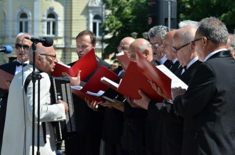 Ziua Europei: Festivităţi cu depunere de coroane şi defilarea gărzii de onoare la Statuia Ostaşului Român (FOTO)