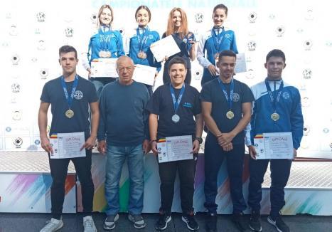 Nouă clasări pe podium pentru sportivii de la CSU Oradea la Campionatul Naţional de tir