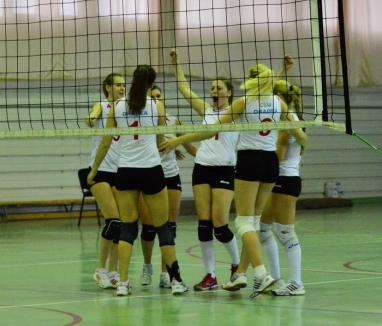 Voleibalistele de la CSU Oradea au câștigat cu 3-0 jocul de la Sibiu