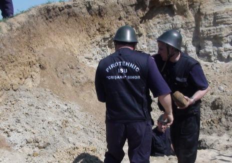 Bombă din al doilea Război Mondial, dezgropată în Sînmartin