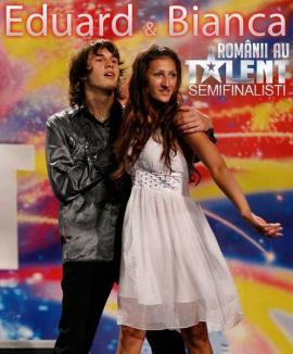 Votaţi-i pe iluzionistul Eduard Maliţa şi pe asistenta sa Bianca în semifinalele Românii au Talent!