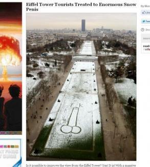 Vedere din Turnul Eiffel: un mare penis