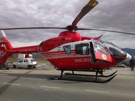 Orădean arestat, după ce, beat la volan, a lovit o femeie şi a fugit! Victima sa a fost proiectată în şanţ şi dusă la spital cu elicopterul SMURD