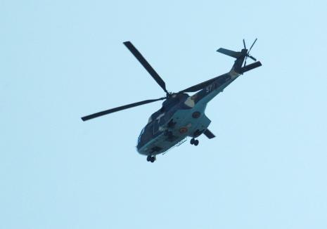 Pentru sărbători liniştite: Poliţia va supraveghea traficul din Bihor cu un elicopter