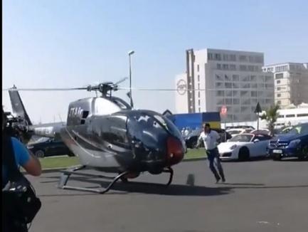 Fiţă de Mamaia. Un bărbat a fost la un pas de a fi rănit de un elicopter care a adus patru pasageri la un club (VIDEO)