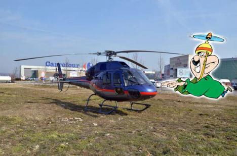 Cu elicopterul la shopping (FOTO)