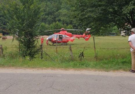 Motociclist, preluat de elicopterul SMURD după un accident la Pădurea Neagră