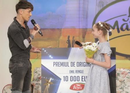 """Orădeanul Emil Rengle, câștigătorul emisiunii """"Românii au talent"""", i-a donat 10.000 de euro micuței balerine Bianca"""